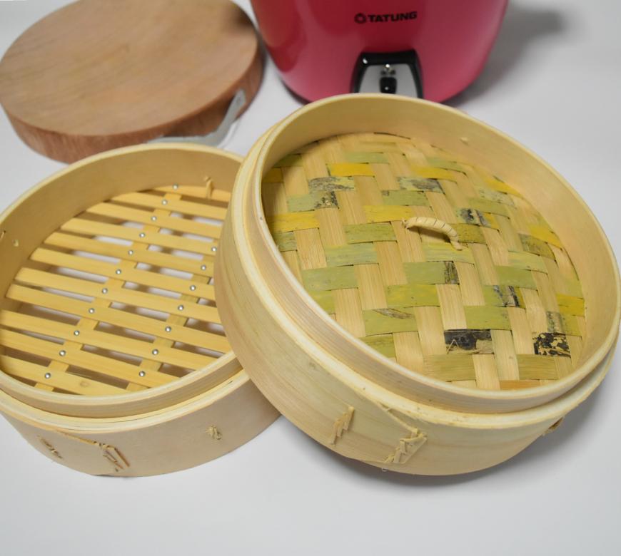 台湾 竹製せいろ 本体と蓋セット 大同電鍋6合6人用(電鍋は含みません)