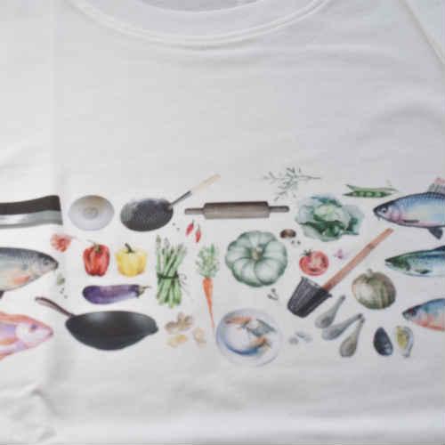 台湾野菜のモチーフ Tシャツ ファッション 台湾雑貨 沖縄雑貨 ペアルック お土産 島島島 台湾 雑貨