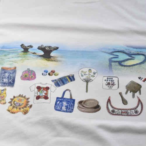 台湾と沖縄のハートロック Tシャツ ファッション 台湾雑貨 沖縄雑貨 ペアルック お土産 島島島 台湾 雑貨