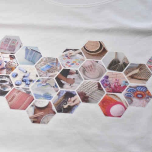 台湾と沖縄の職人モチーフ Tシャツ ファッション 台湾雑貨 沖縄雑貨 ペアルック お土産 島島島 台湾 雑貨